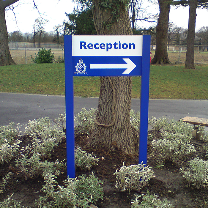 Post Mounted Directional Sign