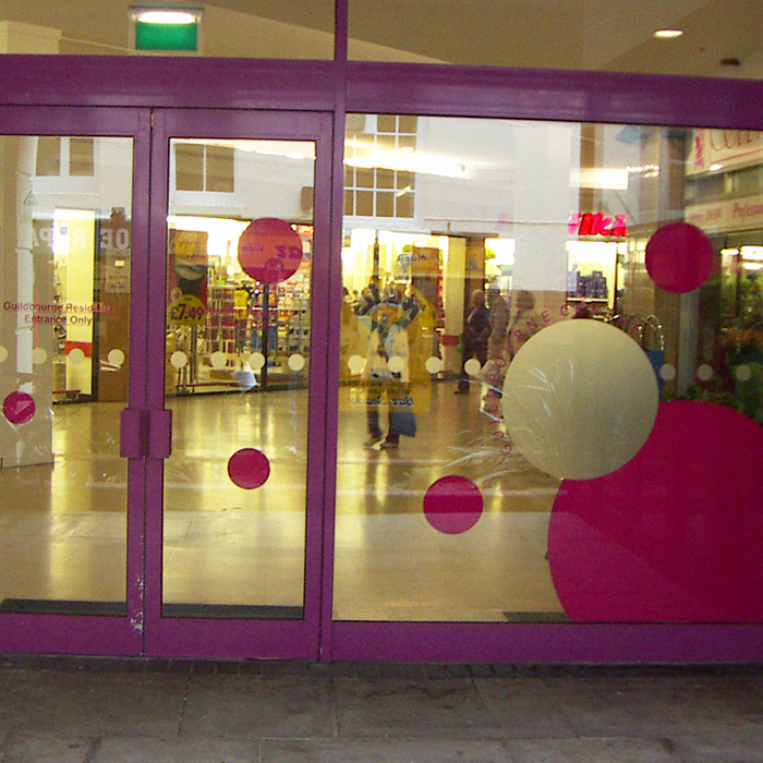 Etch and Pink Window Graphics