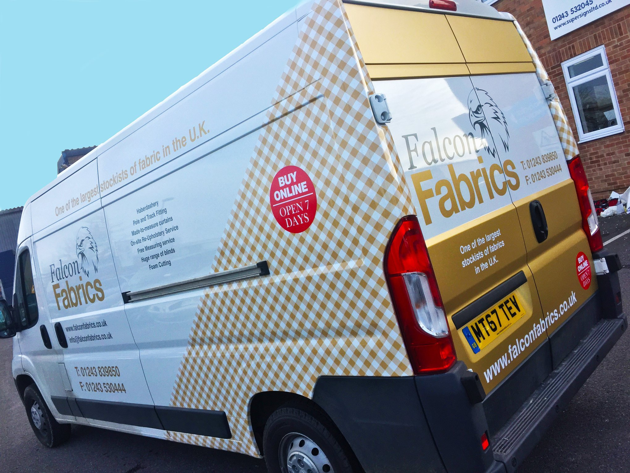 Vehicle Graphics for Falcon Fabrics