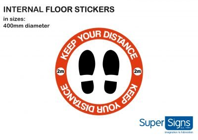 ppe floor stickers